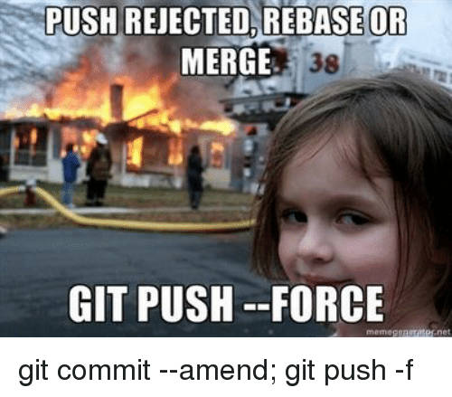 git push --force may burn down your house